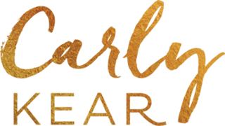 Carly Kear Gold Foil Logo Retina